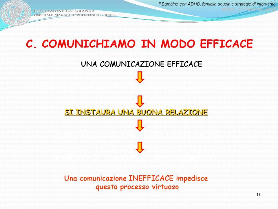 C. COMUNICHIAMO IN MODO EFFICACE