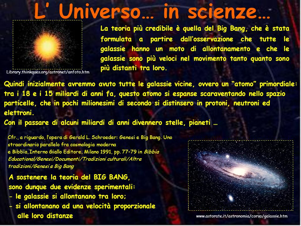 L' Universo… in scienze…
