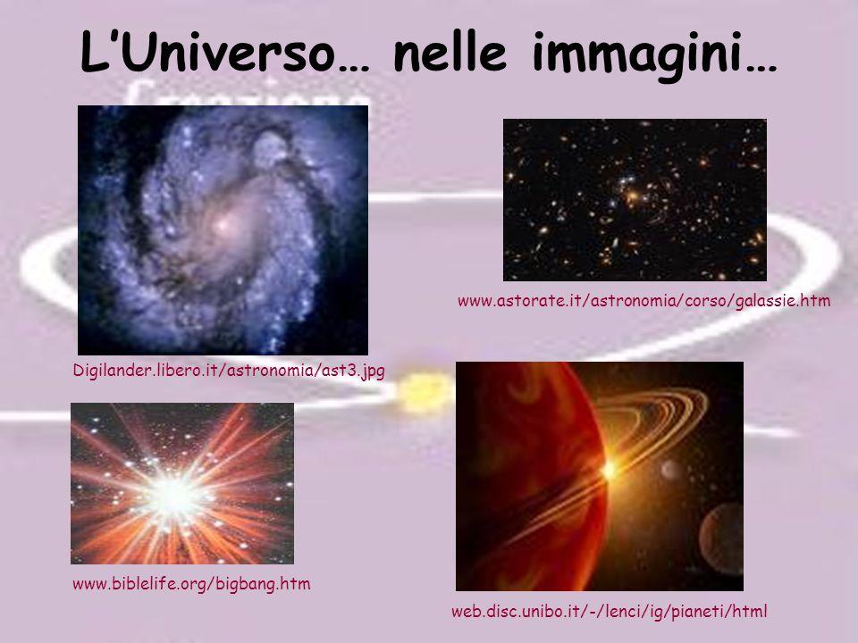 L'Universo… nelle immagini…