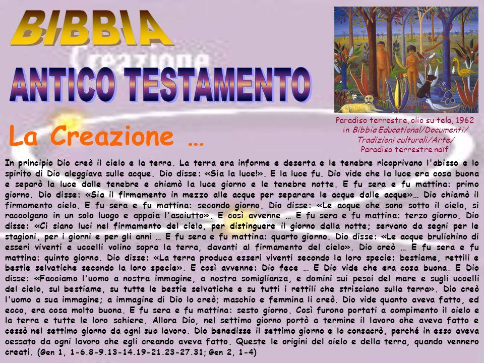La Creazione … BIBBIA ANTICO TESTAMENTO