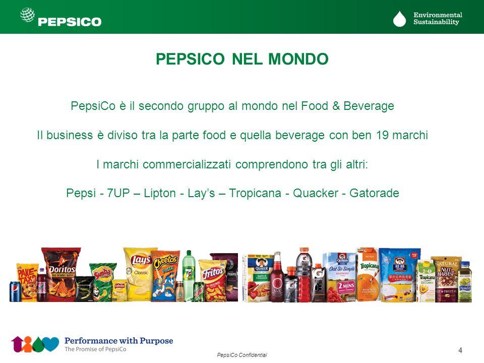 PEPSICO NEL MONDO PepsiCo è il secondo gruppo al mondo nel Food & Beverage.