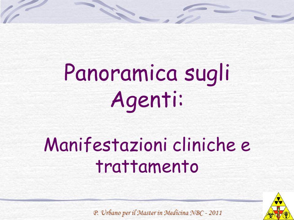 Panoramica sugli Agenti: Manifestazioni cliniche e trattamento