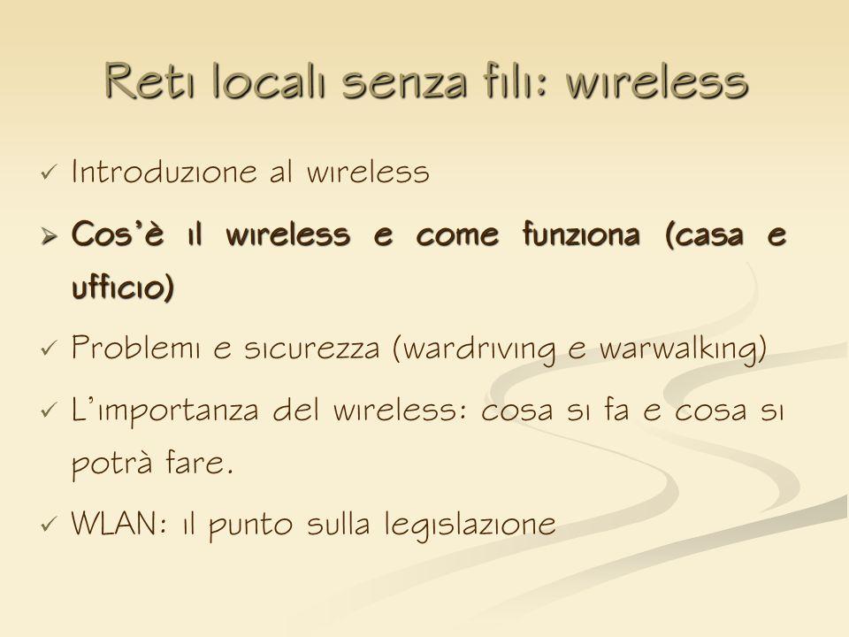 Reti locali senza fili wireless ppt scaricare - Punto sicurezza casa ...