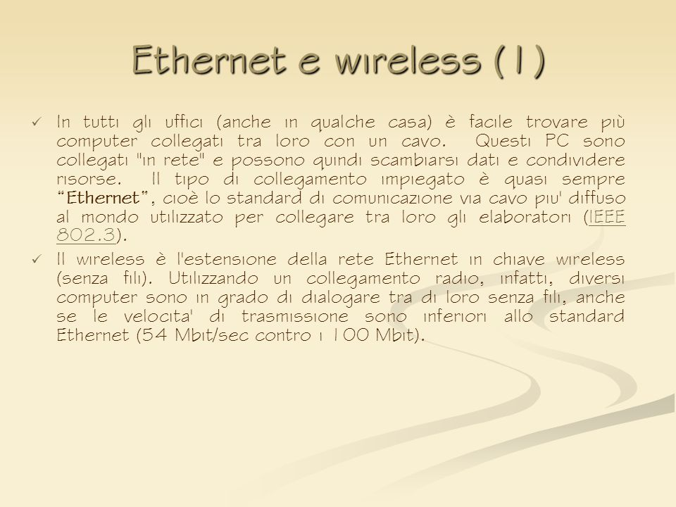 Ethernet e wireless (1)