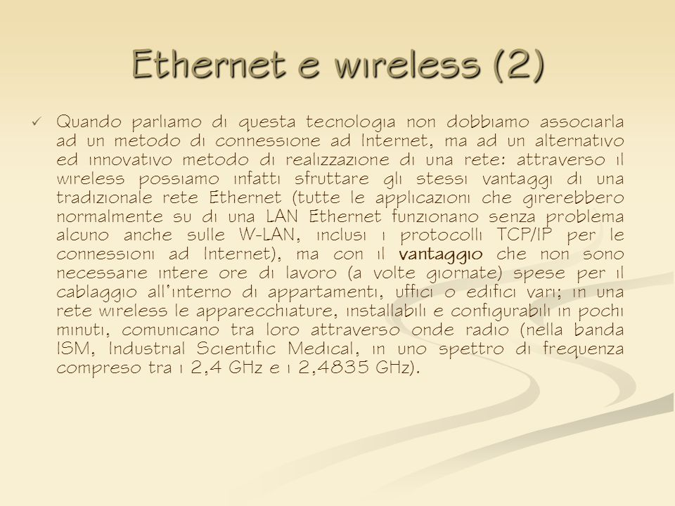 Ethernet e wireless (2)