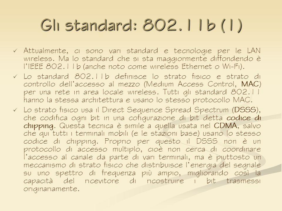 Gli standard: 802.11b (1)