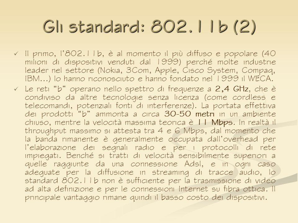 Gli standard: 802.11b (2)