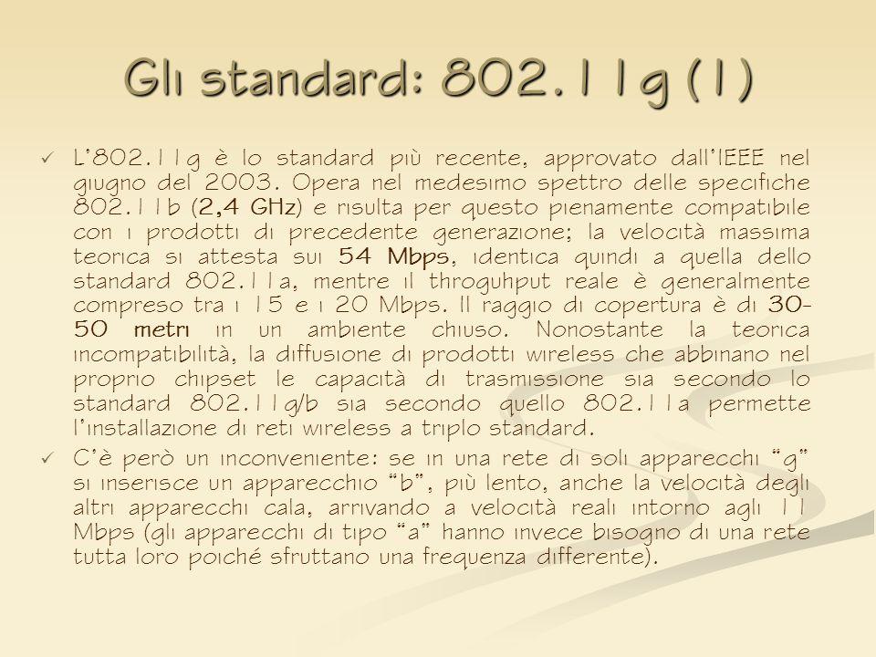 Gli standard: 802.11g (1)