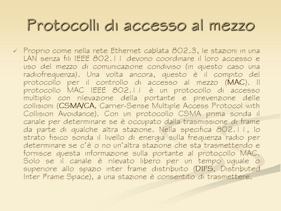 Protocolli di accesso al mezzo