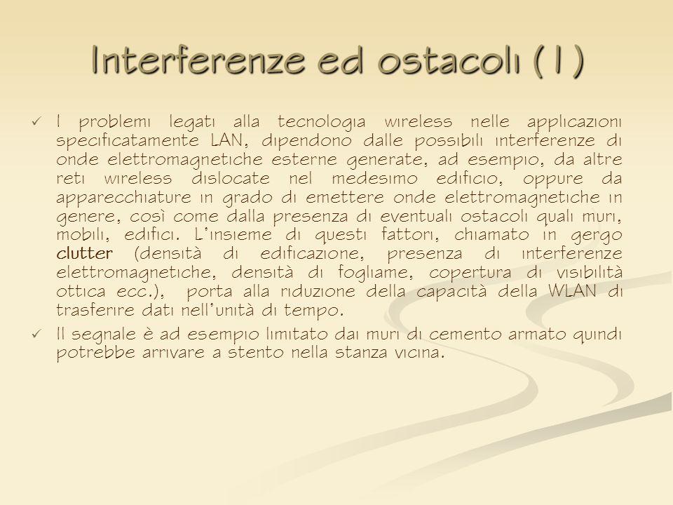 Interferenze ed ostacoli (1)