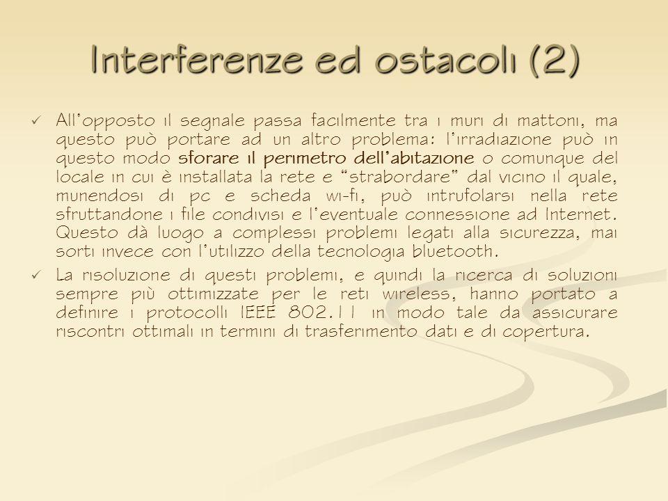 Interferenze ed ostacoli (2)