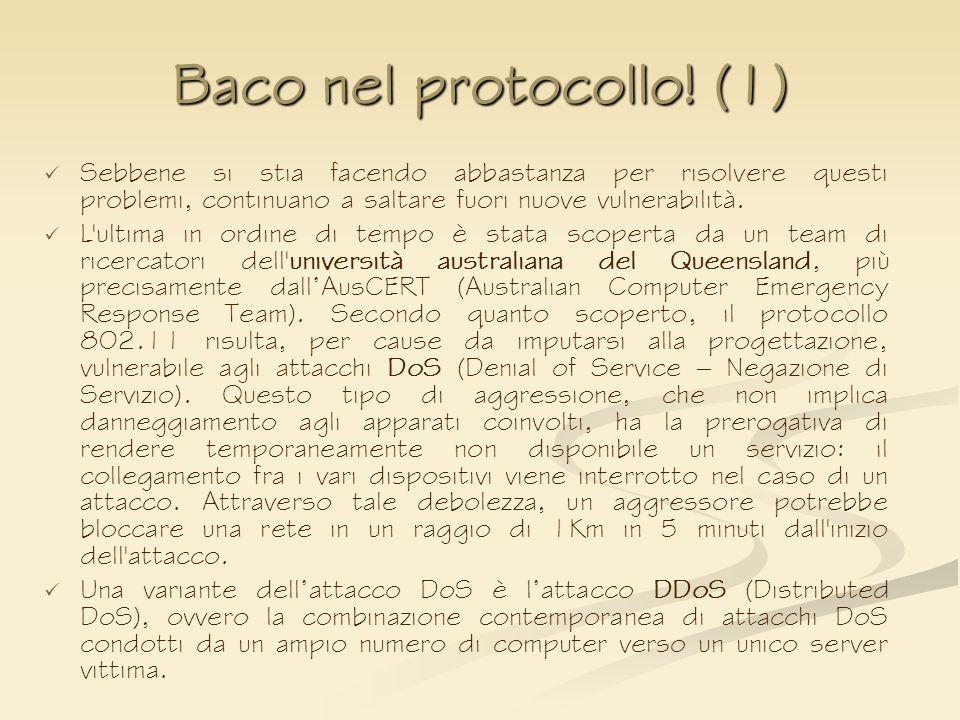 Baco nel protocollo! (1)Sebbene si stia facendo abbastanza per risolvere questi problemi, continuano a saltare fuori nuove vulnerabilità.