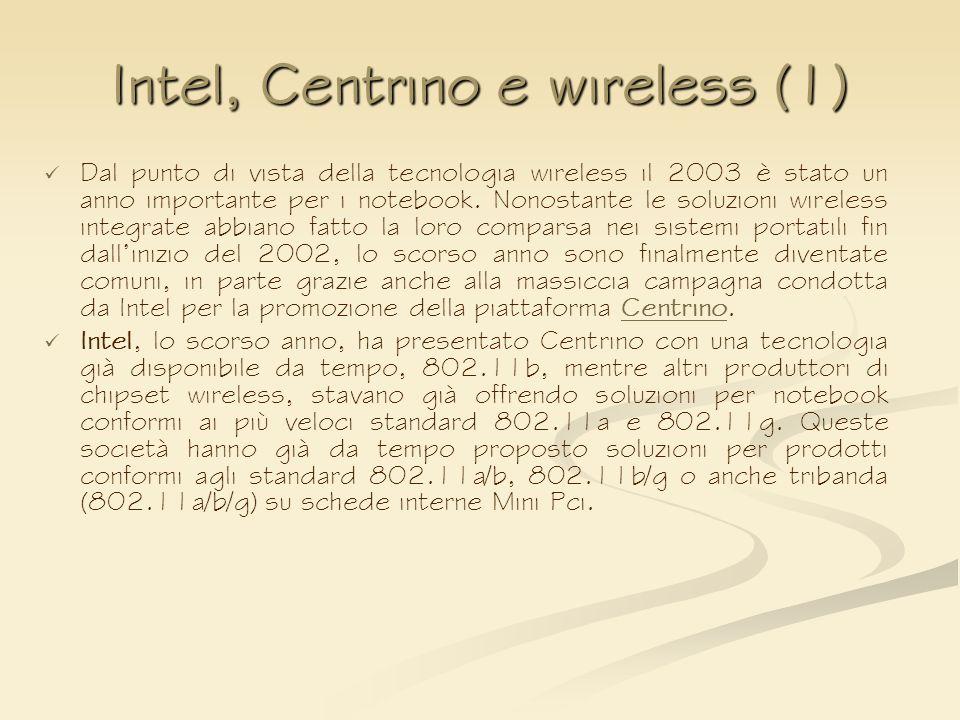 Intel, Centrino e wireless (1)