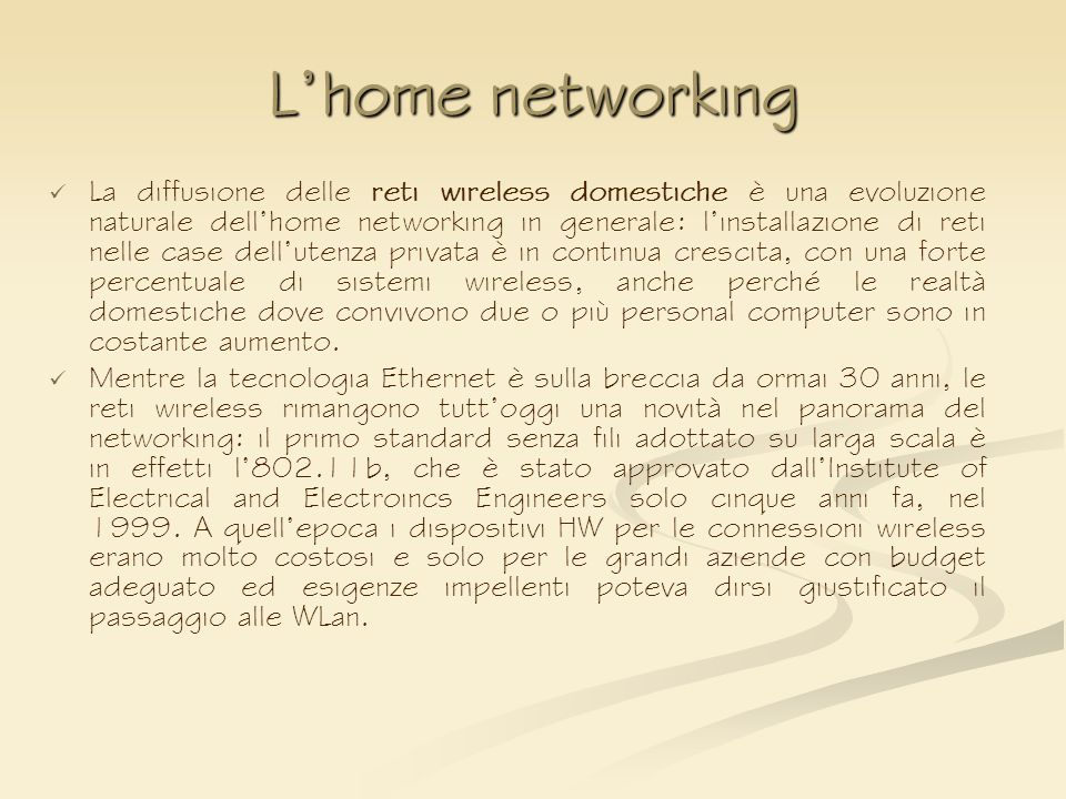 L'home networking
