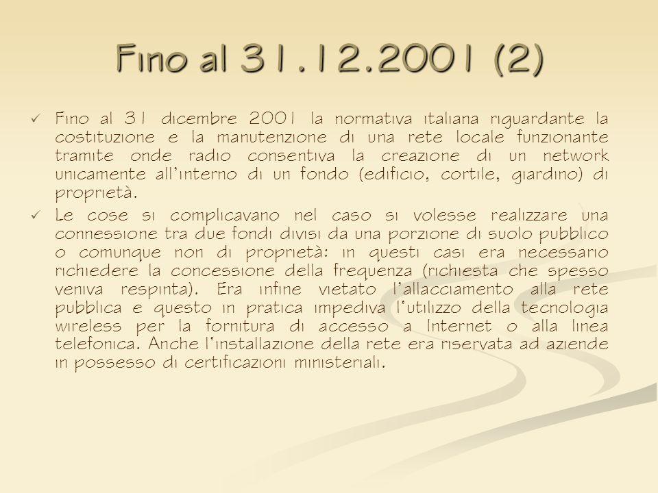 Fino al 31.12.2001 (2)