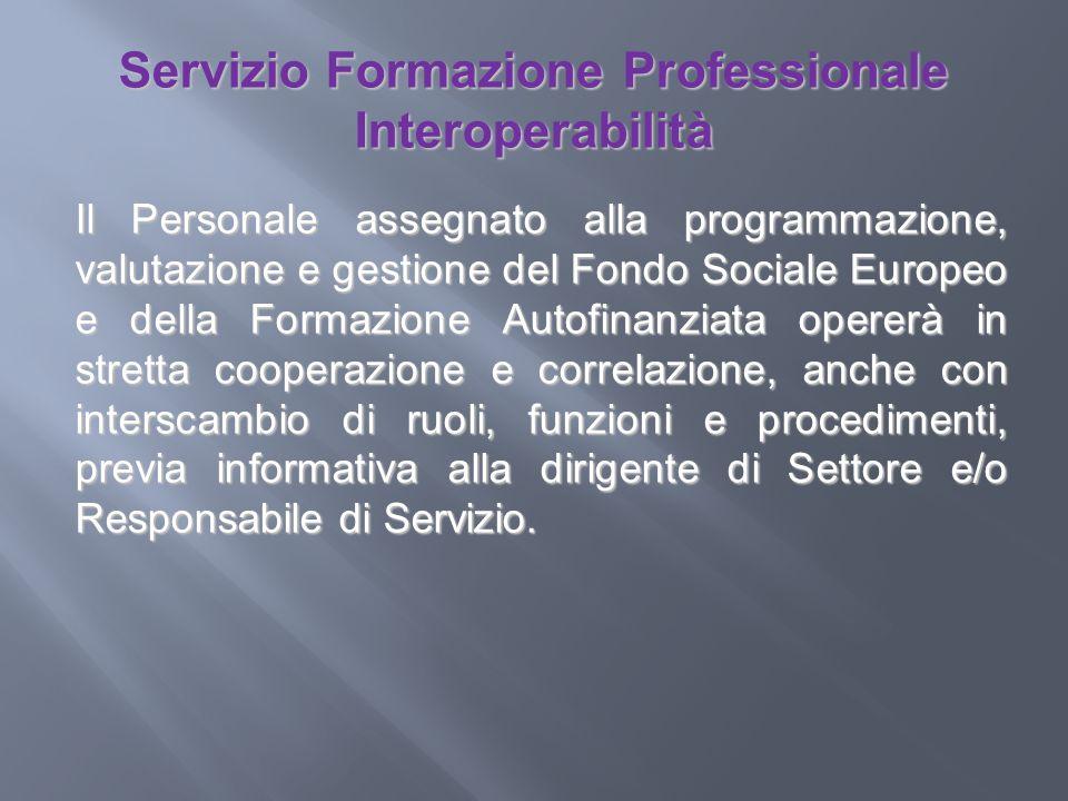 Servizio Formazione Professionale Interoperabilità