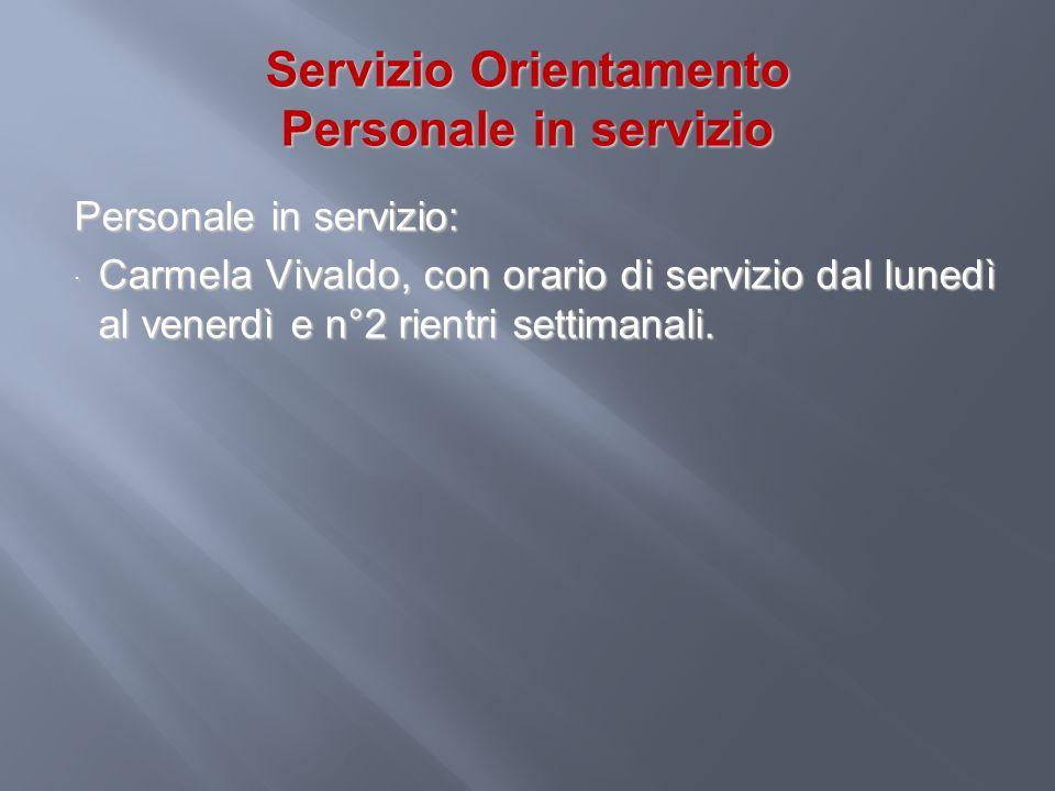 Servizio Orientamento Personale in servizio
