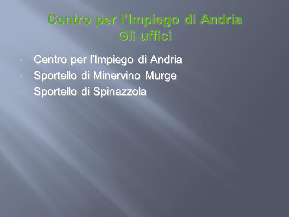 Centro per l'Impiego di Andria Gli uffici