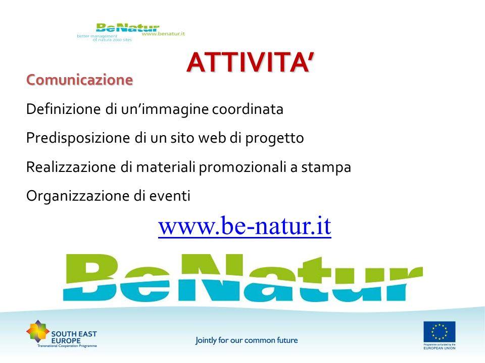 ATTIVITA' www.be-natur.it Comunicazione