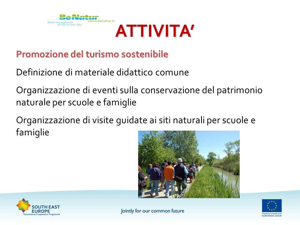 ATTIVITA' Promozione del turismo sostenibile