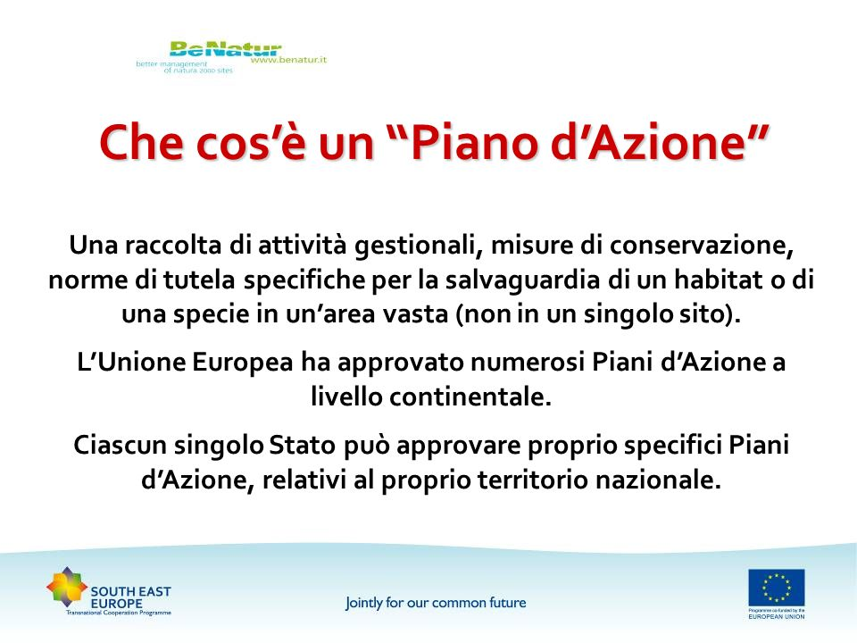 progetto be natur better management of nature 2000 sites