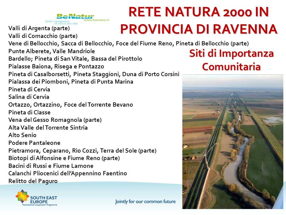 RETE NATURA 2000 IN PROVINCIA DI RAVENNA