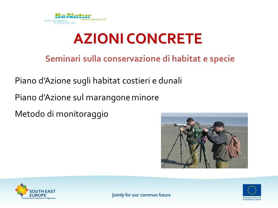 Seminari sulla conservazione di habitat e specie
