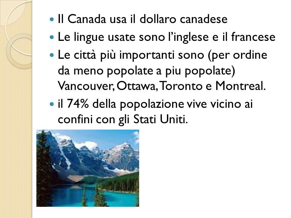 Il Canada usa il dollaro canadese