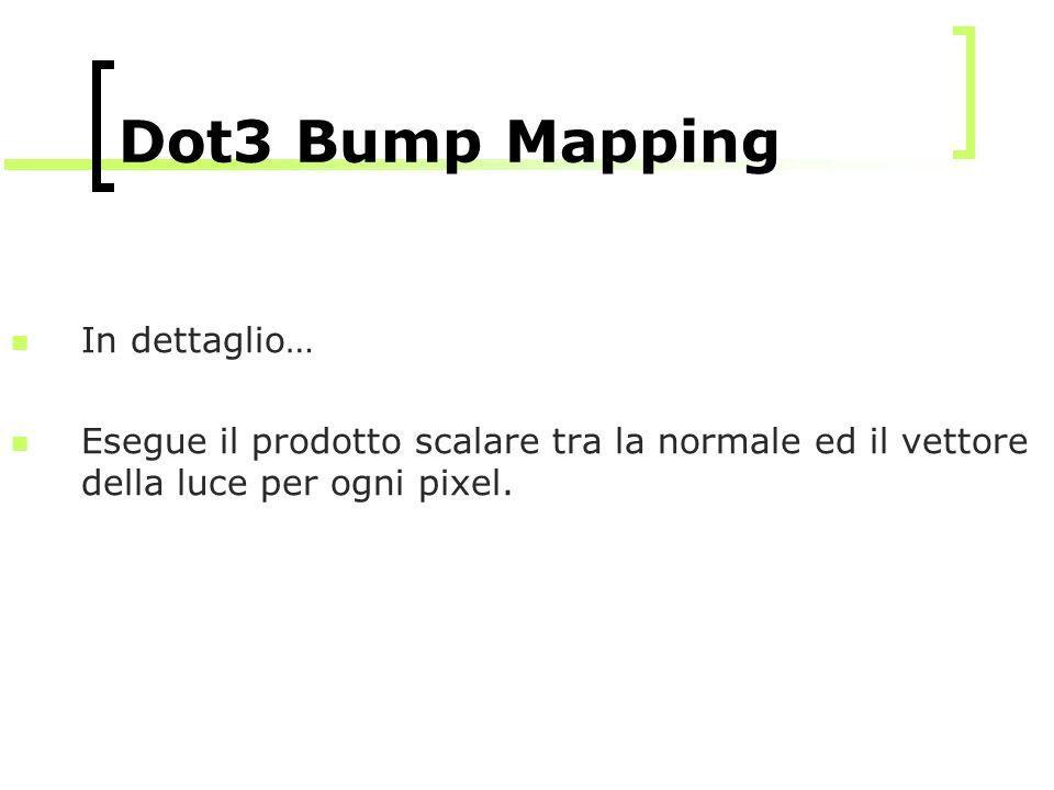 Dot3 Bump Mapping In dettaglio…