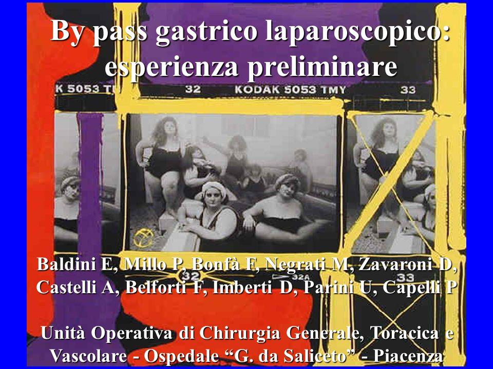 By pass gastrico laparoscopico: esperienza preliminare