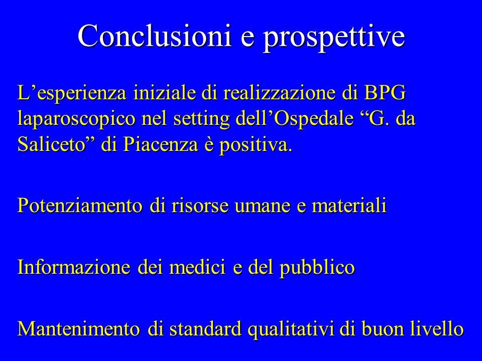 Conclusioni e prospettive