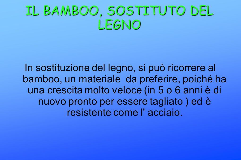 IL BAMBOO, SOSTITUTO DEL LEGNO