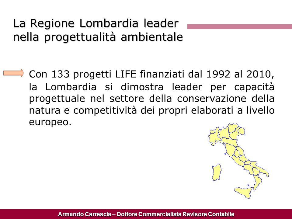 La Regione Lombardia leader nella progettualità ambientale