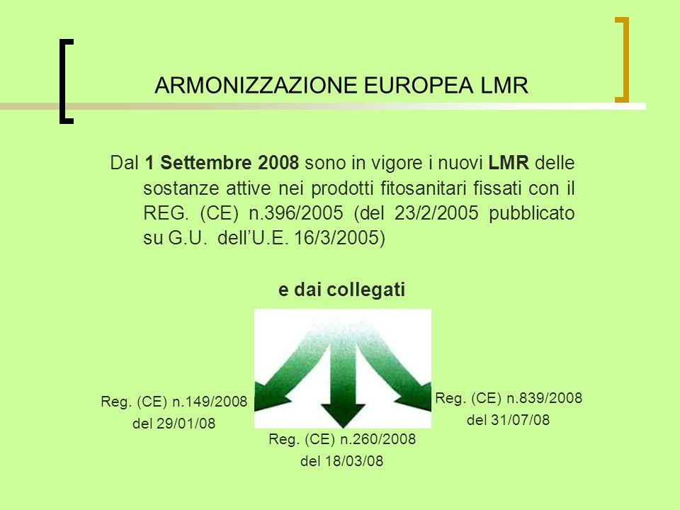 ARMONIZZAZIONE EUROPEA LMR