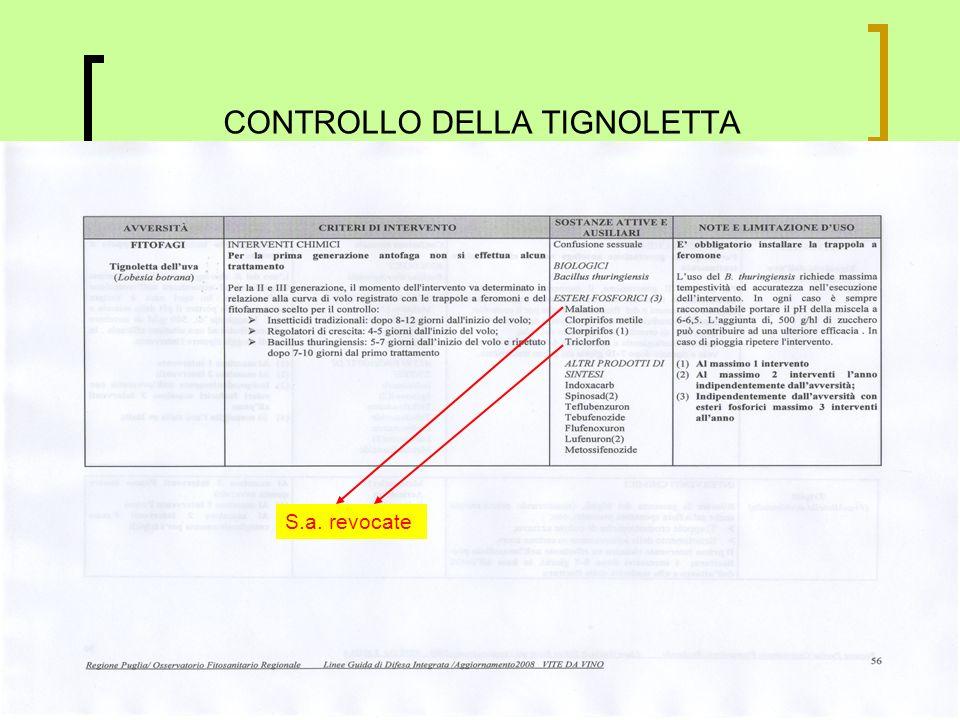 CONTROLLO DELLA TIGNOLETTA