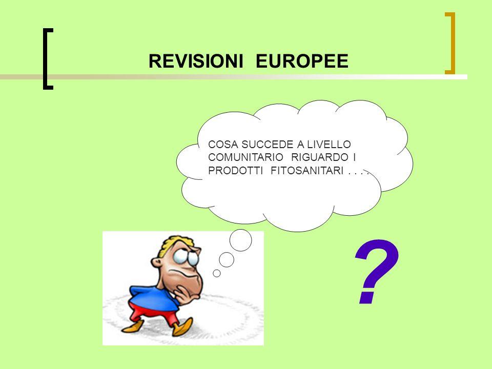 REVISIONI EUROPEE COSA SUCCEDE A LIVELLO COMUNITARIO RIGUARDO I PRODOTTI FITOSANITARI . . . .