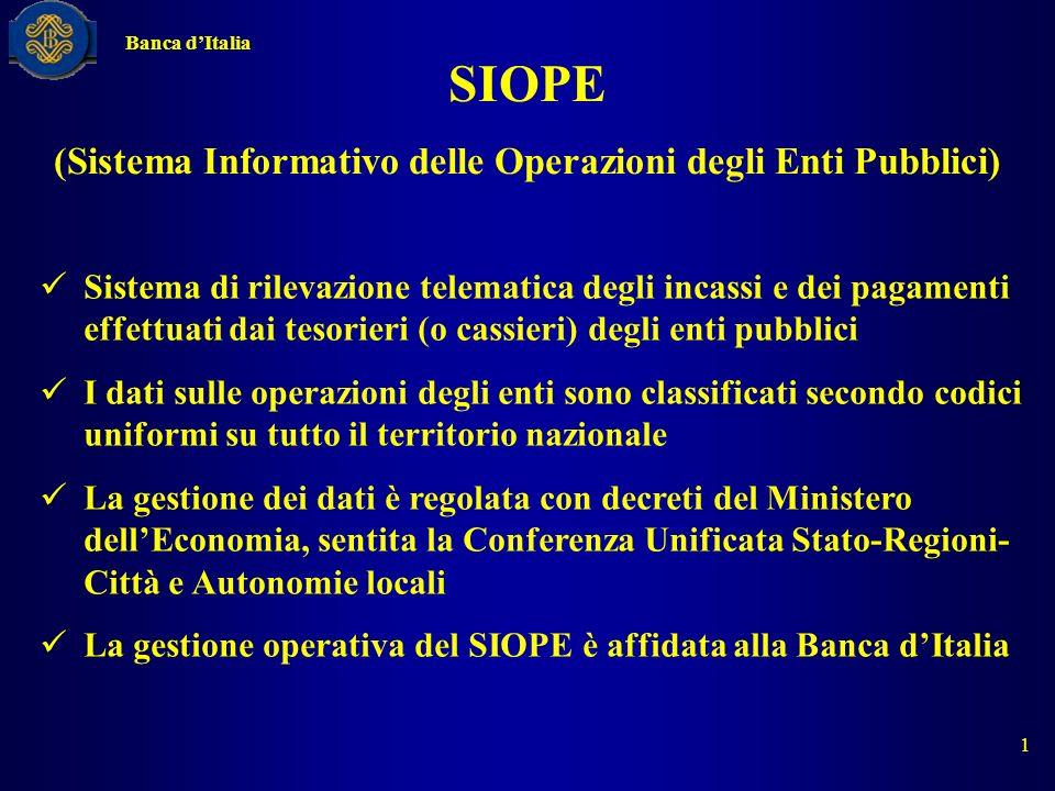 (Sistema Informativo delle Operazioni degli Enti Pubblici)