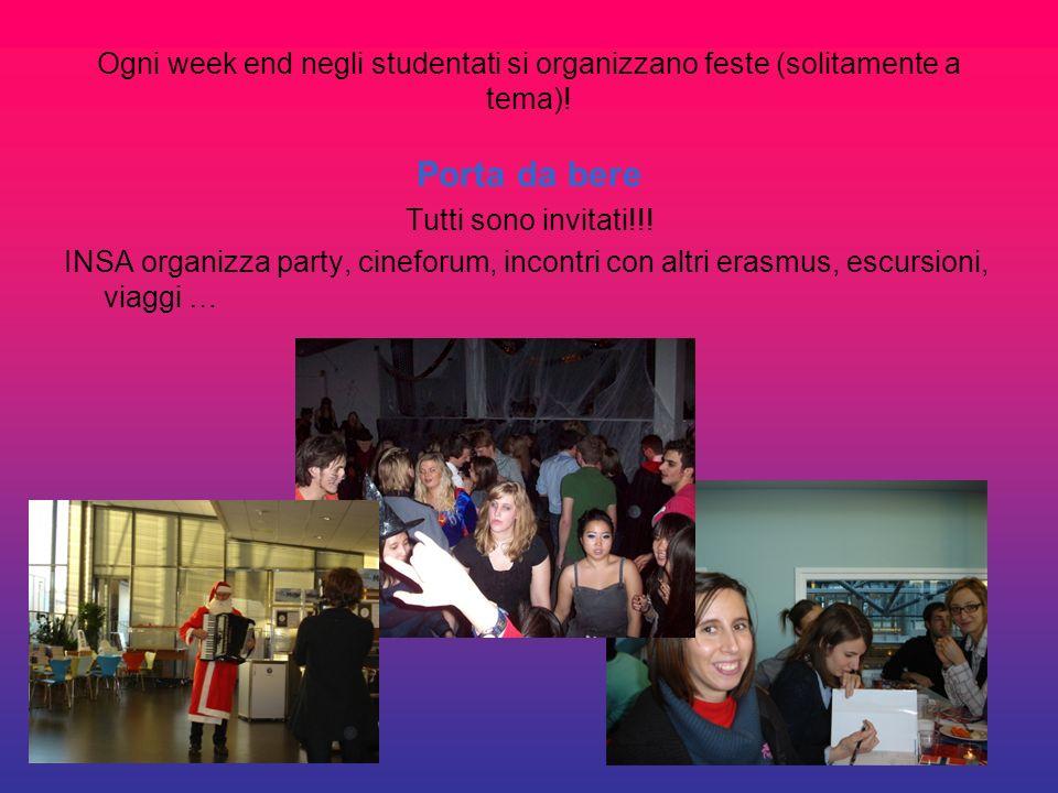 Ogni week end negli studentati si organizzano feste (solitamente a tema)!