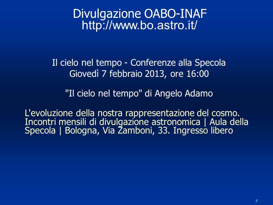 Divulgazione OABO-INAF http://www.bo.astro.it/