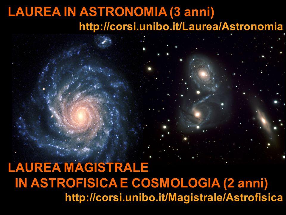 LAUREA IN ASTRONOMIA (3 anni)
