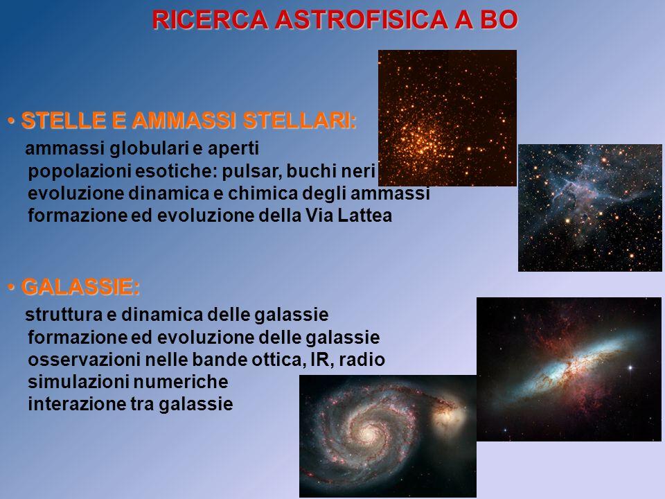 RICERCA ASTROFISICA A BO