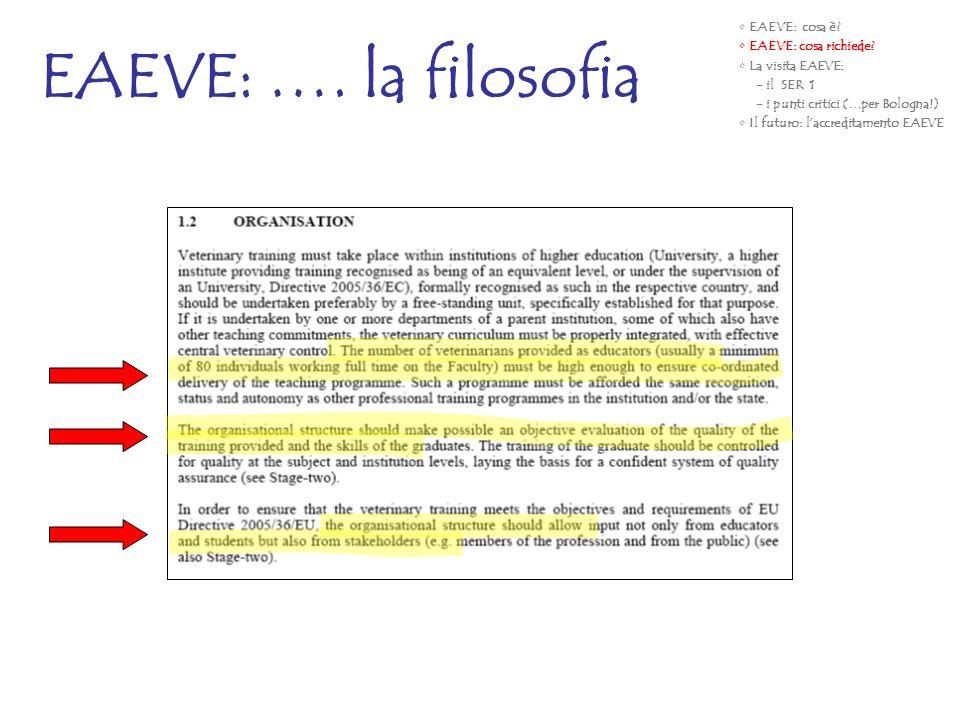 EAEVE: …. la filosofia EAEVE: cosa è EAEVE: cosa richiede