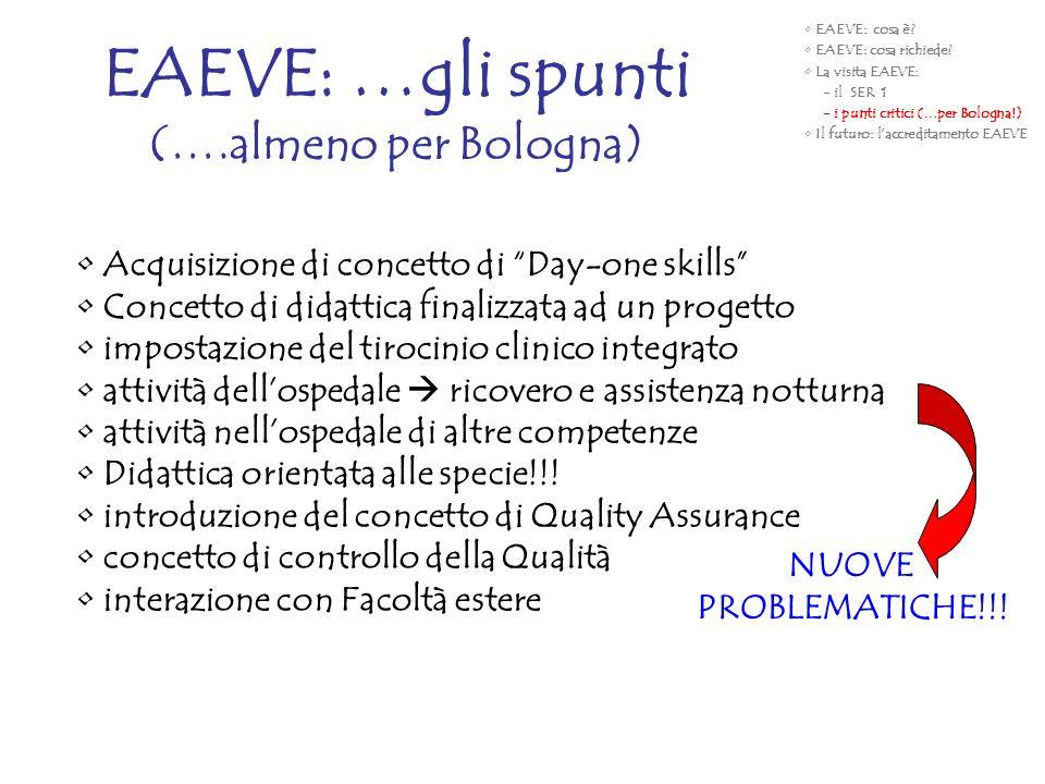 EAEVE: …gli spunti (….almeno per Bologna)