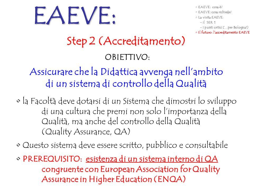 EAEVE: Step 2 (Accreditamento)