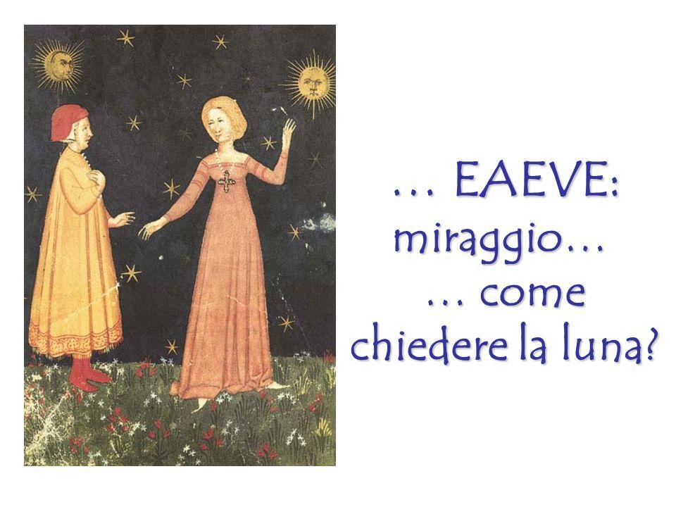 … EAEVE: miraggio… … come chiedere la luna