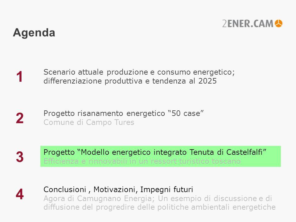 Agenda 1. Scenario attuale produzione e consumo energetico; differenziazione produttiva e tendenza al 2025.