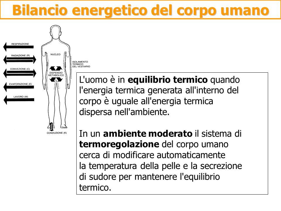 Bilancio energetico del corpo umano