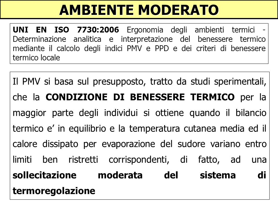 AMBIENTE MODERATO