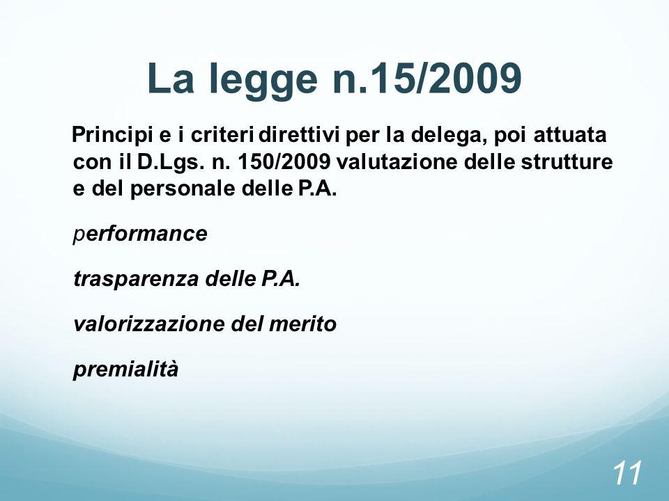 La legge n.15/2009