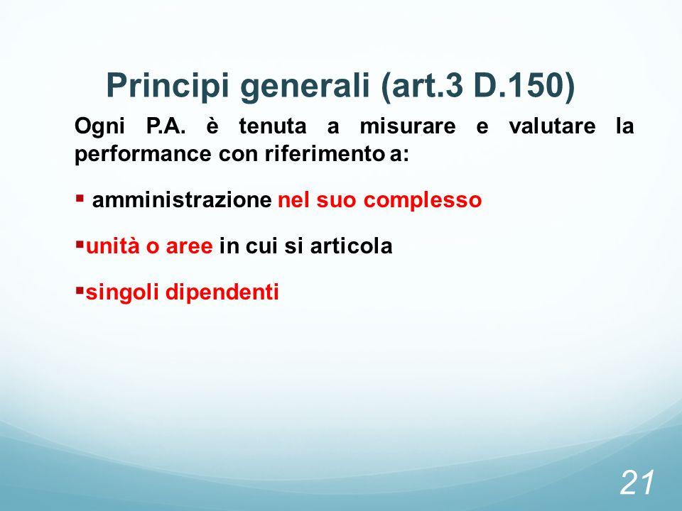 Principi generali (art.3 D.150)